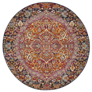 museum-preston-multi-coloured-round-rug