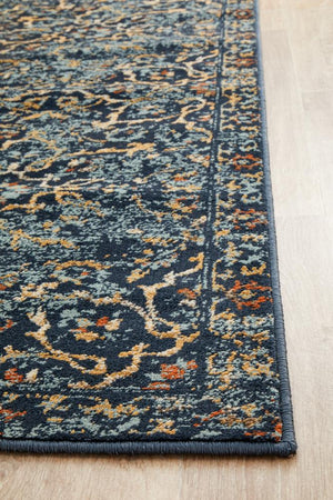 Oxford 436 Navy Runner Rug