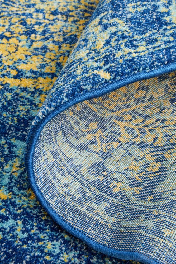 Radiance 411 Royal Blue Round Rug