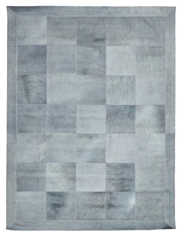 Spanish Carousel Patch Grey Leather Rug
