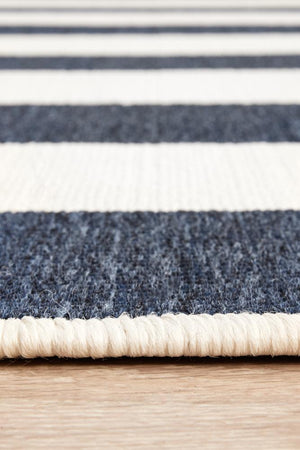Seaside 4444 Navy White Rug