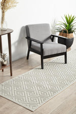 York Alice Natural White Runner Rug