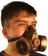 Steampunk Gas Mask with Dual Cartridges