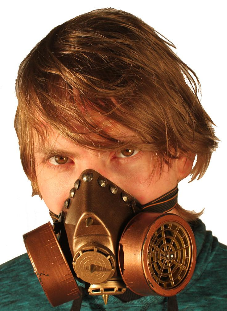 steampunk gas mask respirator with dual cartridges � tryptix