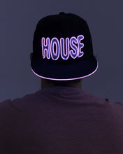 Light Up El Wire Hat - House