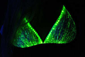 Fiber Optic Bra that Lights Up w Straps