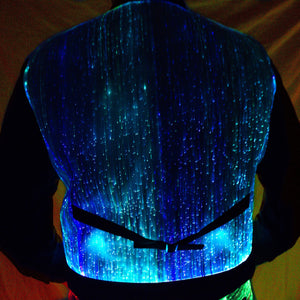 Sound Activated Fiber Optic Waistcoat - Bluetooth App Controlled