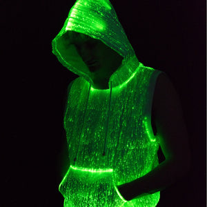 Fiber Optic Sleeveless Hoodie