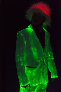 Fiber Optic Mens Suit - lit Green