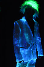 Fiber Optic Mens Suit lit Blue