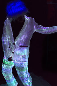 Fiber Optic Mens Suit lit White
