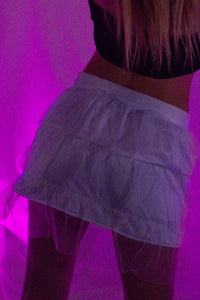 Fiber Optic Light Up  Mini Skirt - Unlit