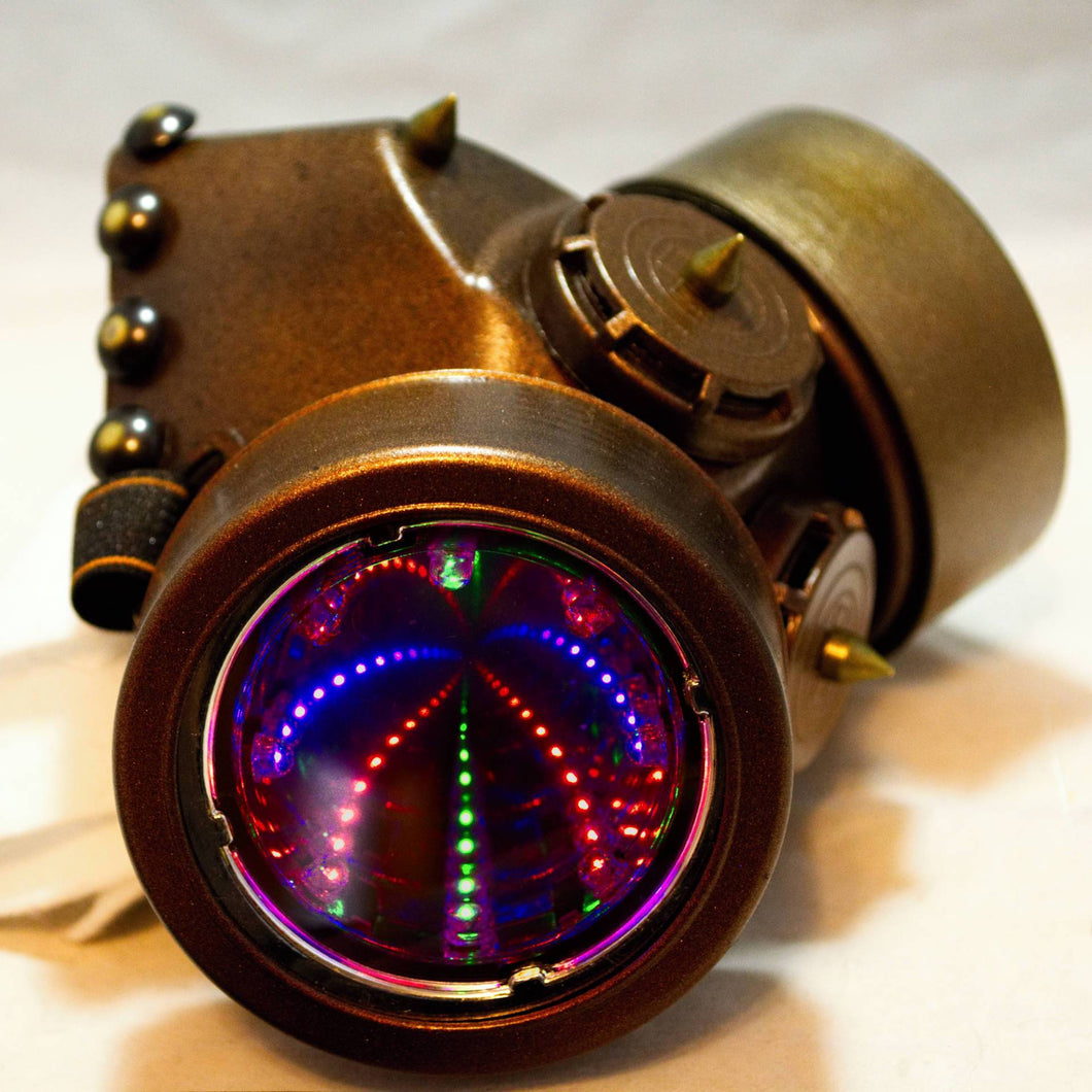 Dieselpunk Cosplay 3D RGB Gas Mask