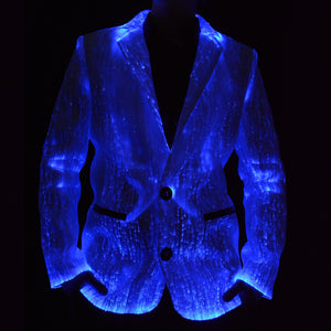 Light Up Jacket Lit Blue From Front