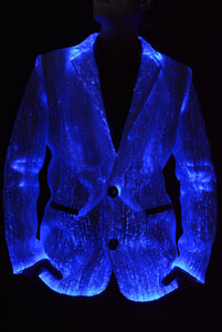 Fiber Optic Light Up Mens Suit - Jacket