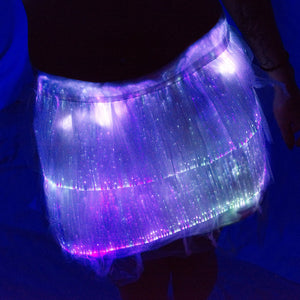 Fiber Optic Mini Skirt lit up