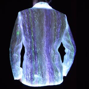 Fiber Optic Light Up Mens Suit From Behind