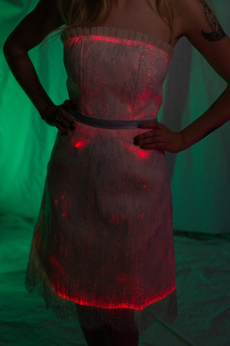 Fiber Optic Strapless Bridesmaid Dress
