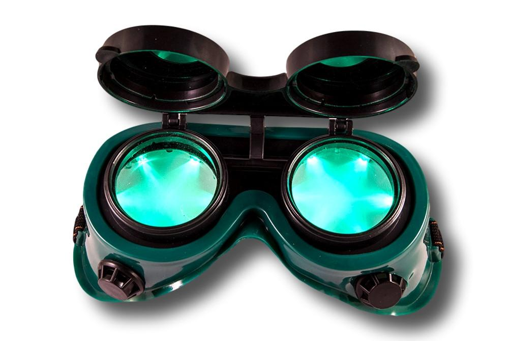 LED Goggles - Green with Green Lights