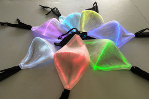 Light Up Face Mask - LED Face Cover, 7 Color Modes, 5 Control Modes