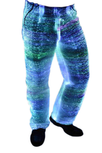 Fiber Optic Men's LED Light up Suit Pants