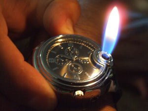 Watch/butane lighter