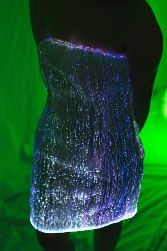 Fiber Optic Strapless Cocktail Dress