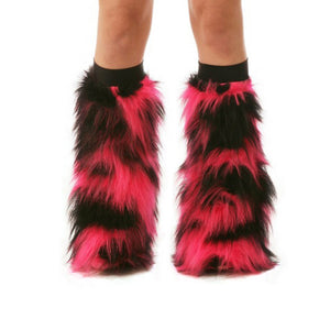 Hot Pink Camo Leg Warmers with Black Bands