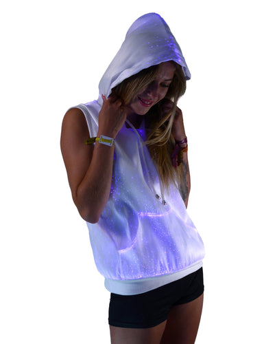 TrYptiX - Women's Fiber Optic Sleeveless Hoodie