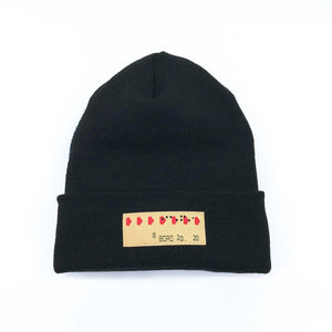 Transfer Patch - Long beanie (black)