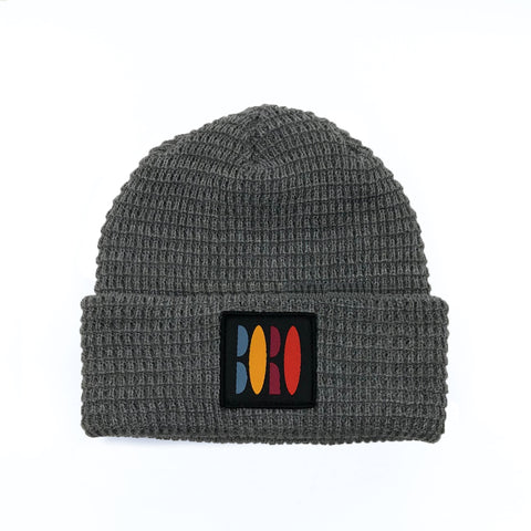Boro VHS Patch Short Waffle Beanie (Grey)