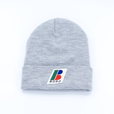 Boro Bolo Patch Long Beanie (grey)