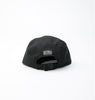 Boro Leather Patch 5 Panel Cap (Black)
