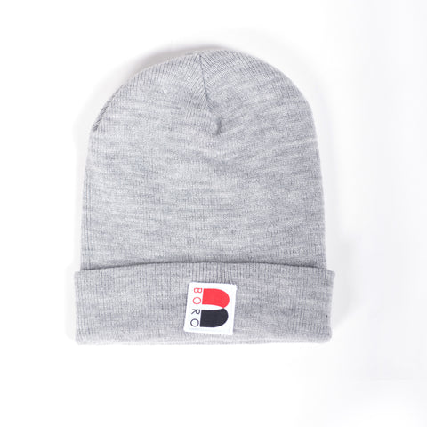 Boro Nouveau B Patch Long Beanie (grey)