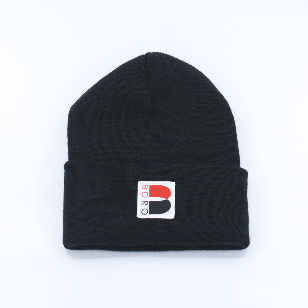 Boro Nouveau B Patch Long Beanie (black)