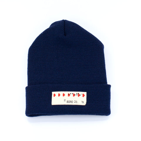 Boro Transfer Long Beanie (navy)