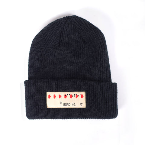 Boro Transfer Patch short Beanie (black)