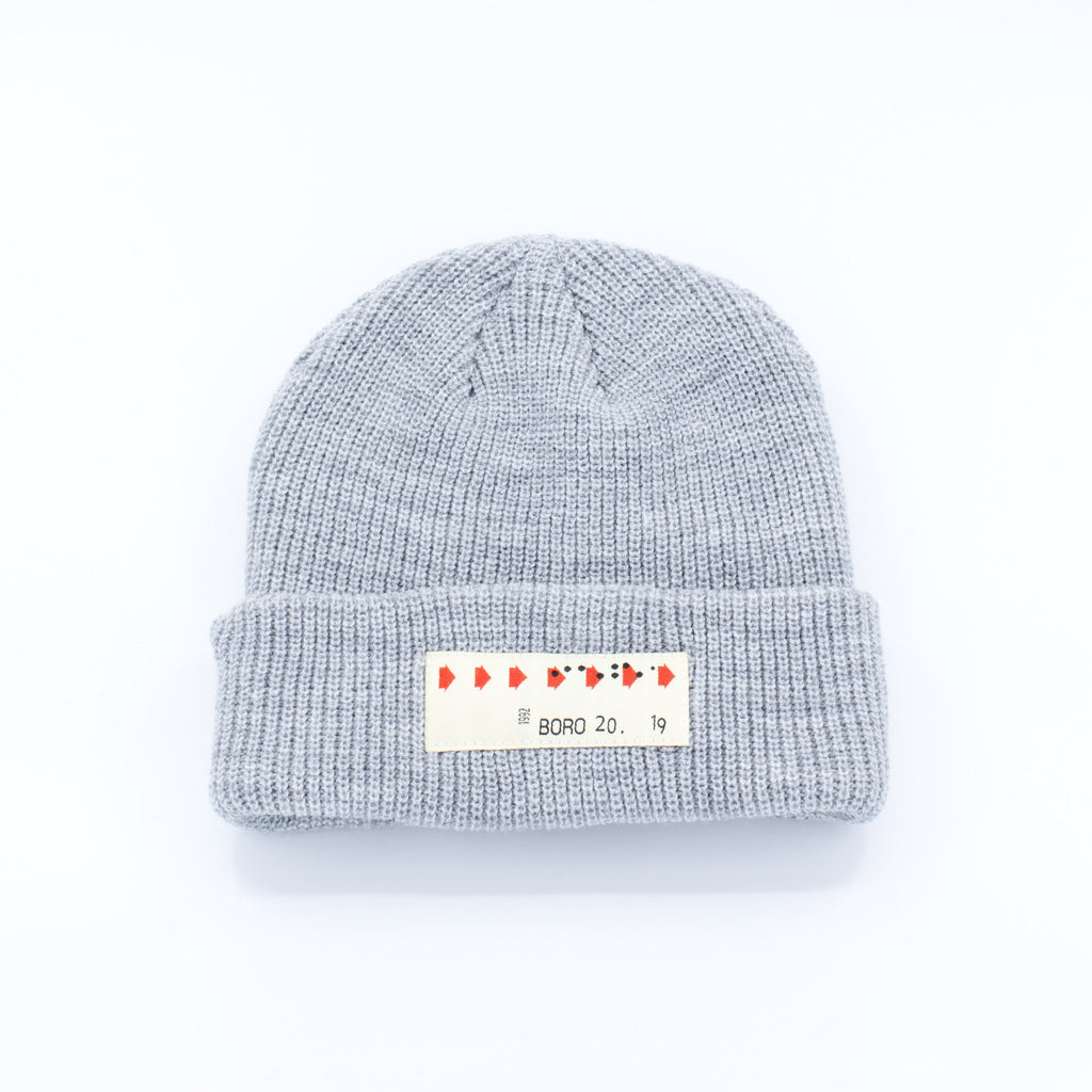 Boro Transfer Patch short Beanie (grey)