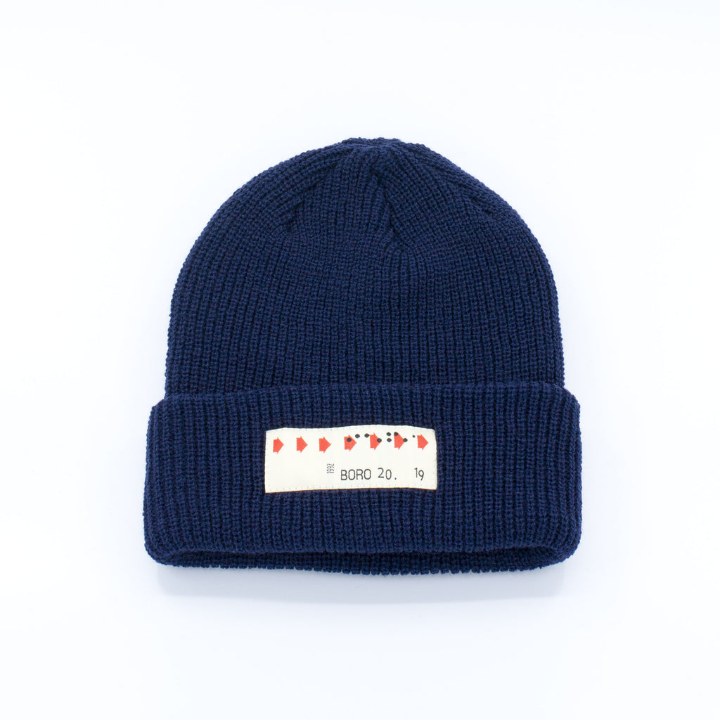 Boro Transfer Patch short Beanie (navy)