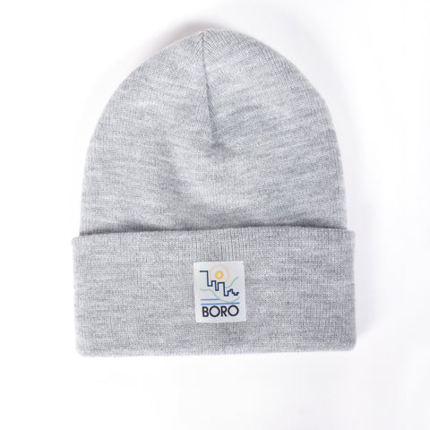 Boro Villa Patch Long Beanie (grey)