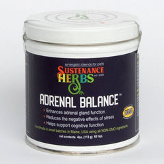 4 oz tin of sustenance herbs for pets adrenal balance for pets, helps support cognitive function in dogs and cats