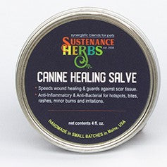 sustenance herbs for pets canine healing salve, all natural chemical free canine healing salve
