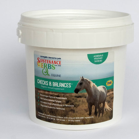 sustenance herbs for pets checks and balance equine formula, organic herbal supplement for horses