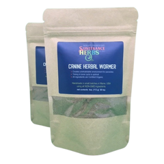 refill bags of canine herbal wormer