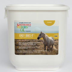 23 oz tub of sustenance herbs for pets easy does it, an organic herbal supplement  for horses