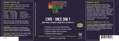 label for sustenance herbs for pets cwb once daily wellness supplement for dogs