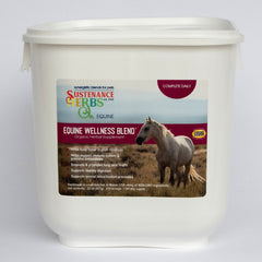 sustenance herbs for pets equine wellness blend, an organic daily supplement for horses