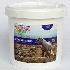 16 oz tub of sustenance herbs for pets detox liver cleanse,  an organic herbal blend for detox and liver cleanse in horses