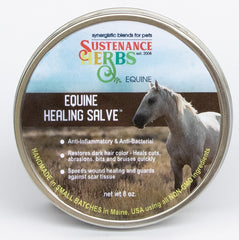 8 oz tin of sustenance herbs for pets anti-inflammatory and anti-bacterial equine healing salve