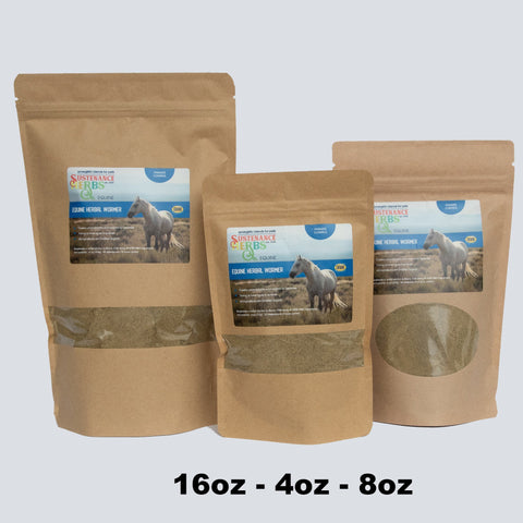 bags of sustenance herbs for pets equine herbal wormer